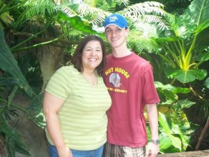 On our honeymoon in 2008